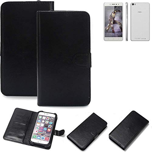 K-S-Trade® 360° Wallet Case Handyhülle Für Hisense L671 Schutz Hülle Smartphone Flip Cover Flipstyle Tasche Schutzhülle Flipcover Slim Bumper Schwarz, 1x