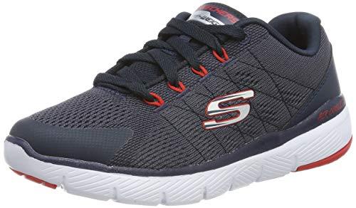 Kinder Schuhe Navy Trim (Skechers Jungen Flex Advantage 3.0 Sneaker, Blau (Navy & Charcoal Textile/Navy & Red Trim Nvcc), 33 EU)