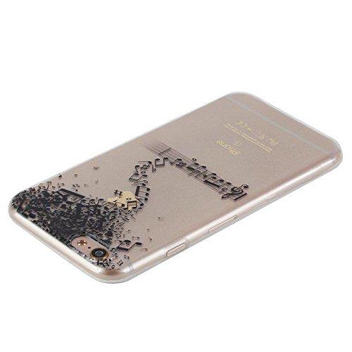 Etsue Custodia iPhone 6 Trasparente,Colorate Dipinto Modello Con Disegni,iPhone 6S Cover in Silicone Tpu Flessible Sottile Antiscivolo e Antigraffio Protettivo Cover Bumper Case Per iPhone 6/6S 4.7+Bl Nota