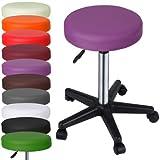 MIADOMODO Elegante Hocker komfortablem Weich gepolsterten Stuhl, höhenverstellbar Violett