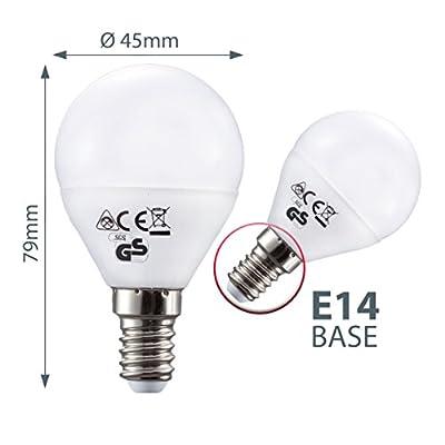 LED Lampe LED Leuchtmittel LED Birne LED Energiesparlampe LED Glühbirne LED Glühlampe LED Tropfen E14 tropfenform 5,5 Watt 470 Lumen ersetzt 40 Watt warmweiß 5er Set von B.K.Licht