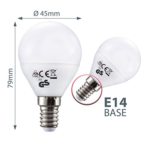 led lampe e14 5er set led birne 5 5 watt gl hbirne 470 lumen leuchtmittel ersetzt halogen 40. Black Bedroom Furniture Sets. Home Design Ideas