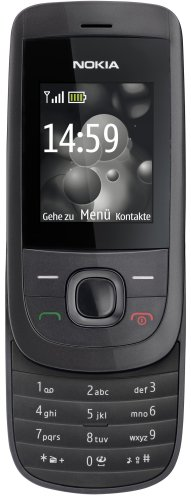 Nokia 2220 slide Handy (MP3, GPRS, Ovi Mail. Flugmodus) [EU-Version] graphit Nokia Mp3