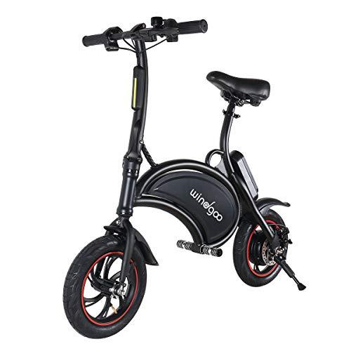 BEBK Vélo Électrique de Ville Pliant, Vitesse Réglable Noir Bike, Jusqu'à 30 km/h, 12 pouces...