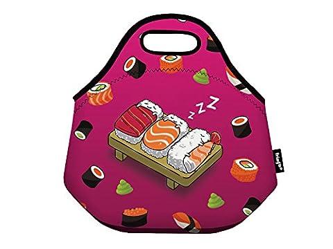 fringoo® Kinder Isolierte Lunch Tasche Neopren Thermo Kühler Reißverschluss Tragetasche speisenhalter Schule Reise Picknick Kinderzimmer, Sleeping Sushi