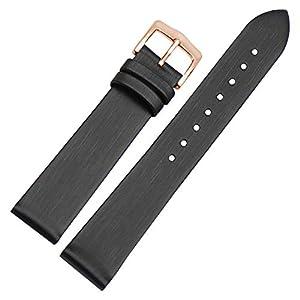 BONSTRAP Herren Armband Ersatz Seide Lederuhr 10 12 14 16 18 20mm Satin Lederarmband Uhrenarmband