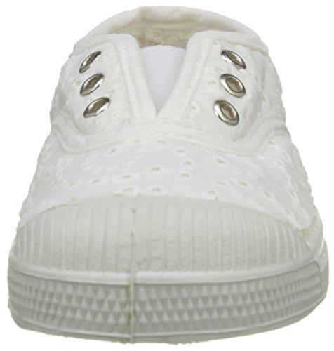 Bensimon Unisex-Kinder Elly Broderie Anglaise Sneaker Blanc (101 Blanc)
