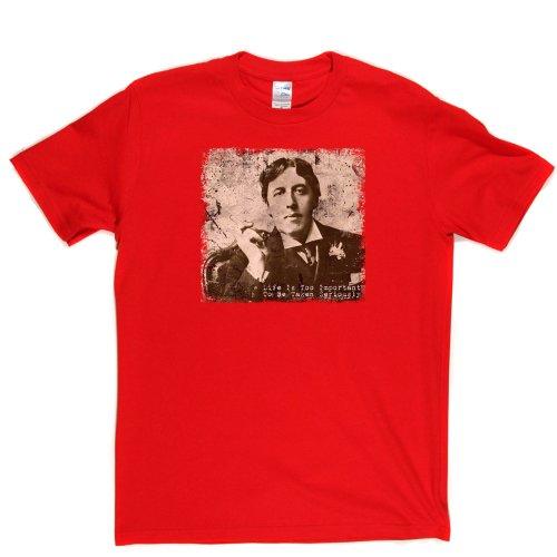 Oscar Wilde in Sepia Irish Writer Poet 1880s 1890s retro Tee T-shirt Rot