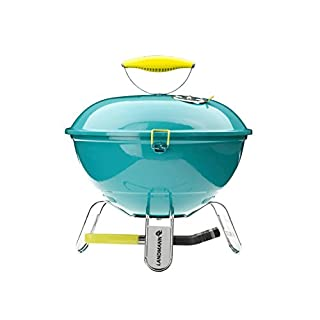 Landmann Piccolino 31375 37cm Portable Charcoal Barbecue - Turquoise