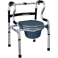 Comò Comodini seduta WC sedia alluminio lega pieghevole disabili anziani