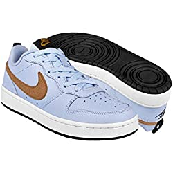 Nike Court Borough Low 2, Zapatillas de Baloncesto para Hombre, Azul (Celestine Blue/Gold Suede/Black/White 400), 40 EU
