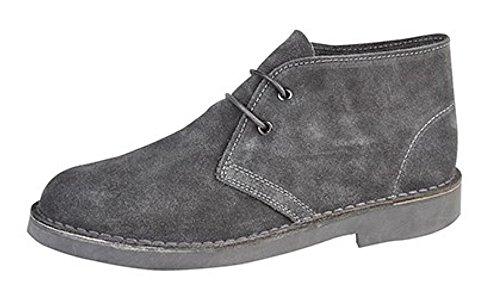 Classica da uomo in pelle scamosciata Desert stivali Grey