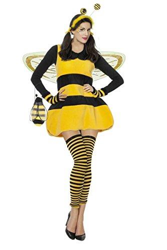 (Damen Kostüm Biene Hummel Karneval Fasching Gr.36)