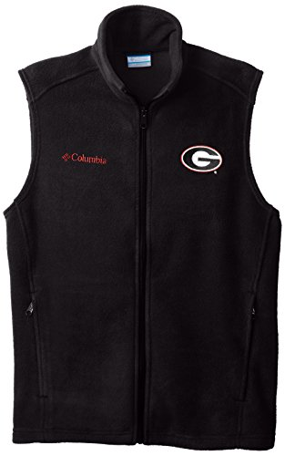 NCAA Georgia Bulldogs Collegiate Flanker Vest, Black, Small (Fleece-weste Bulldog)