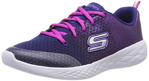 Skechers Mädchen Go Run 600-sparkle Speed Sneaker, Blau (Navy Pink Nvpk), 32 EU (Pink Sprinkles Glitter)