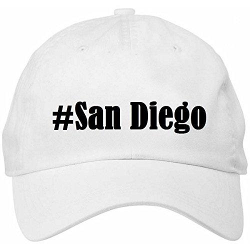 base-cap-hashtag-san-diegogrosseunifarbeweissdruckschwarz