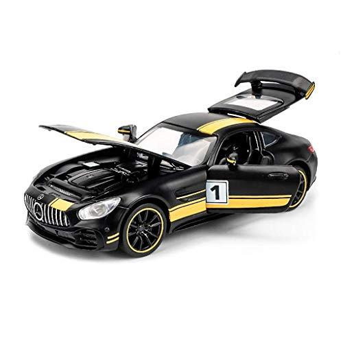 ASDFNF Modellauto 1:32 Mercedes - Mercedes GT Simulation Legierung Druckguss Spielzeug Schmuck Sportwagen Kollektion Schmuck Schwarz Gelb 15x6.5x3.5CM