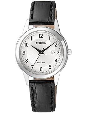Citizen Damen-Armbanduhr Analog Quarz Leder FE1081-08A