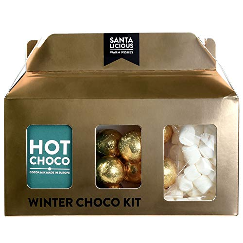 Becky´s Winter Choco Kit - Trinkschokolade, Marshmallows und goldene Schoko-Pralinen - 125 g