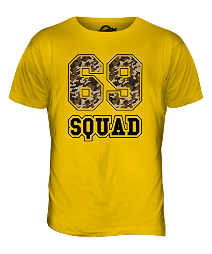 CandyMix 69 Squad Tarnung Herren T Shirt Dunkelgelb