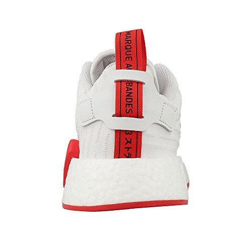 adidas Herren NMD_R2 Primeknit Schuhe white, core red