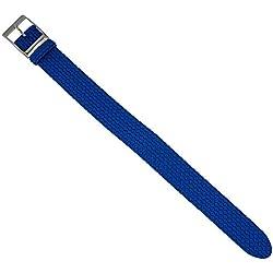 Eulit watch strap Perlon Band drawstring, Red, Blue, Brown, Grey, 20mm-304, Colours: Blue