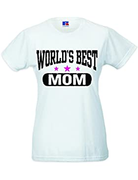Babloo Shirt Cotone Idea Regalo Festa della Mamma World's Best Mom