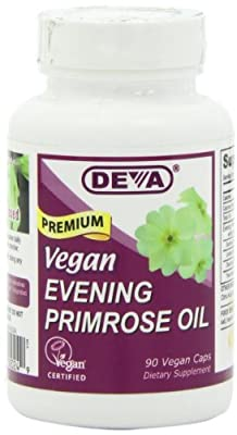 Deva, Organic, Vegan Evening Primrose Oil, 90 Veggie Caps