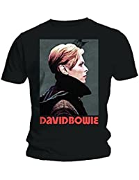 Official T Shirt DAVID BOWIE Vintage Black/Grey LOW PORTRAIT XL