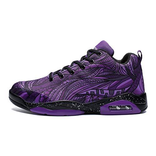 Männer Basketball Schuhe Luftkissen athletisches Paar Bunte Graffiti-Trainer Frauen Sport-Sneakers