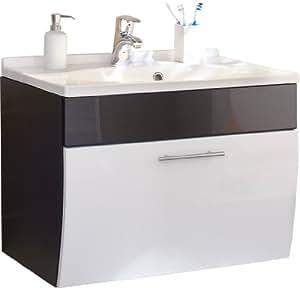 Posseik 5699 99 Waschplatz Santana anthrazit-weiß