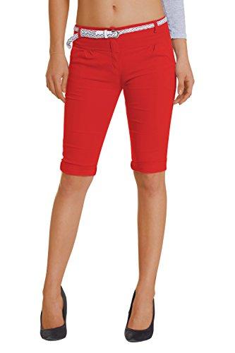 Damen Shorts, ( 454), Grösse:44 XXL, Farbe:Rot