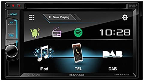 Kenwood DDX401 7DAB 15.7 cm Double DIN VGA Monitor with Bluetooth Module and Digital Radio – Black