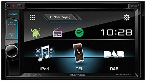 Kenwood DDX4017DAB 15,7 cm Doppel-DIN-VGA-Monitor mit Bluetooth-Modul und Digitalradio schwarz (Radio Kenwood Mit Bluetooth)