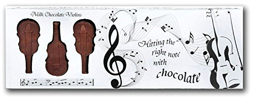 Musik Liebhaber Geschenk Musikinstrument Design Belgische Mini Milchschokolade Kiste Von 8 - Violinen