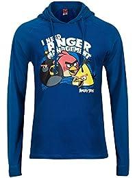 Angry Birds - Sweat-shirt à capuche - Manches Longues - Homme bleu bleu