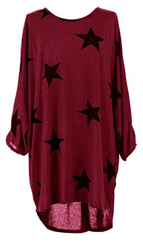 Damen Loose Asymmetrisch Sweatshirt Long Top Oversize Pullover Baggy Oberteile T-Shirt Bluse-DRM