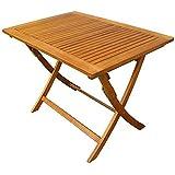 Tavolo pieghevole legno di acacia gold 100x70cm arredo esterno giardino AC805090