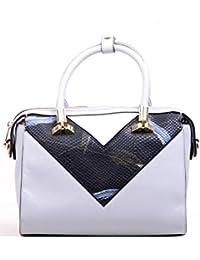 Hopping Street Stylish Elegance Fashion Multi Color Faux Leather Handbag for Women
