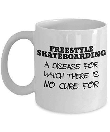 Mesllings Freestyle Skateboard-Tasse - clever und dumme Geschenkidee - Eine lustige und witzige Keramik-Kaffeebecher, immer eine lustige Überraschung zum Verschenken und Empfangen: 312 ml