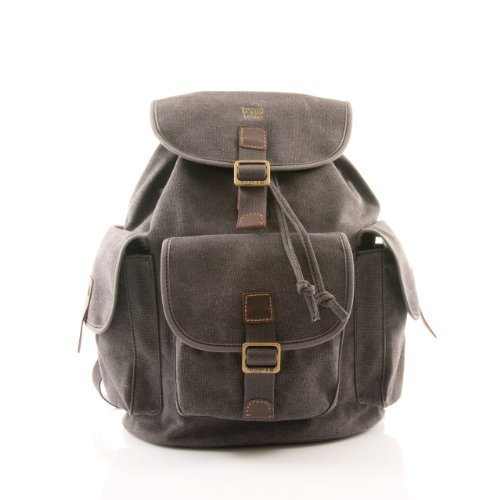 handbag-queen-268bk-zaino-unisex-troop-london-con-rifiniture-in-pelle-colore-nero