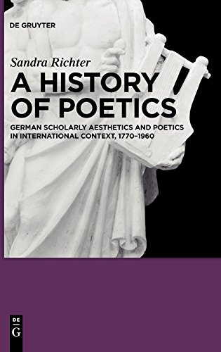A History of Poetics: German Scholarly Aesthetics and Poetics in International Context, 1770-1960