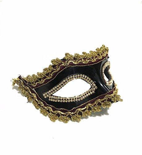 ParttYMask Maskerade,Kunststoff Maske Abschlussball Bühnenmaske Maske B Masquerade