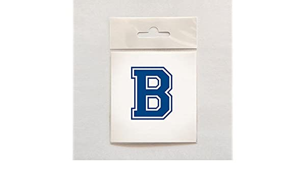 Intracut Dark Blue Letter B In Varsity Font Self Adhesive Vinyl 2