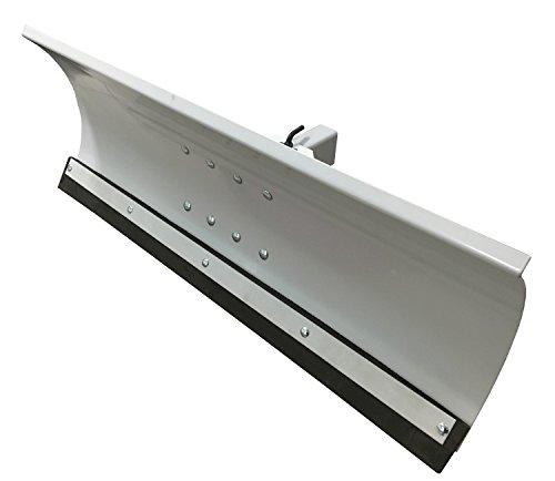 Schneepflug Schneeschild Universal 5 Fach verstellbar für Einachsermaschinen oder Rasentraktoren 125 x 40 cm Grau