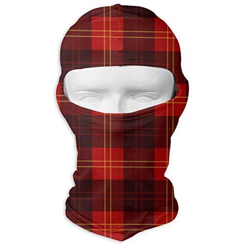 Wdskbg Ski Mask Red Buffalo Plaid Sun UV Protection Dust Protection Wind-Resistant Face Mask for Running Cycling Fishing Unisex1 - Buffalo Plaid Fleece
