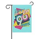 Alaza My Daily Gartenflagge mit der Aufschrift 'Let's Go 90s Party', dekorativ, doppelseitig, Retro-Stil, mit Klebeband, 30,5 x 45,7 cm und 71,1 x 101,6 cm, Polyester, 90s Party, 28 x 40