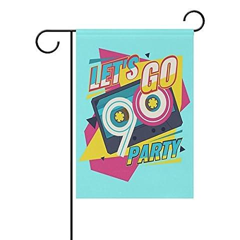 My Daily Let's Go 90s fête coloré décoratif adhésif double face rétro Jardin Drapeau 12x 45,7x 71,1x 101,6cm 12 x 18 90s Party