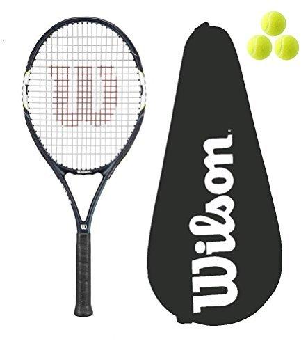 Wilson Surge Power 108 Raquette de tennis + 3 balles de...