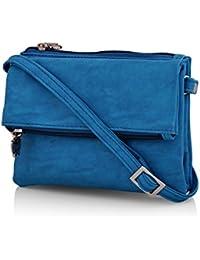 Butterflies Women's Sling Bag (Blue) (BNS 2395BL)